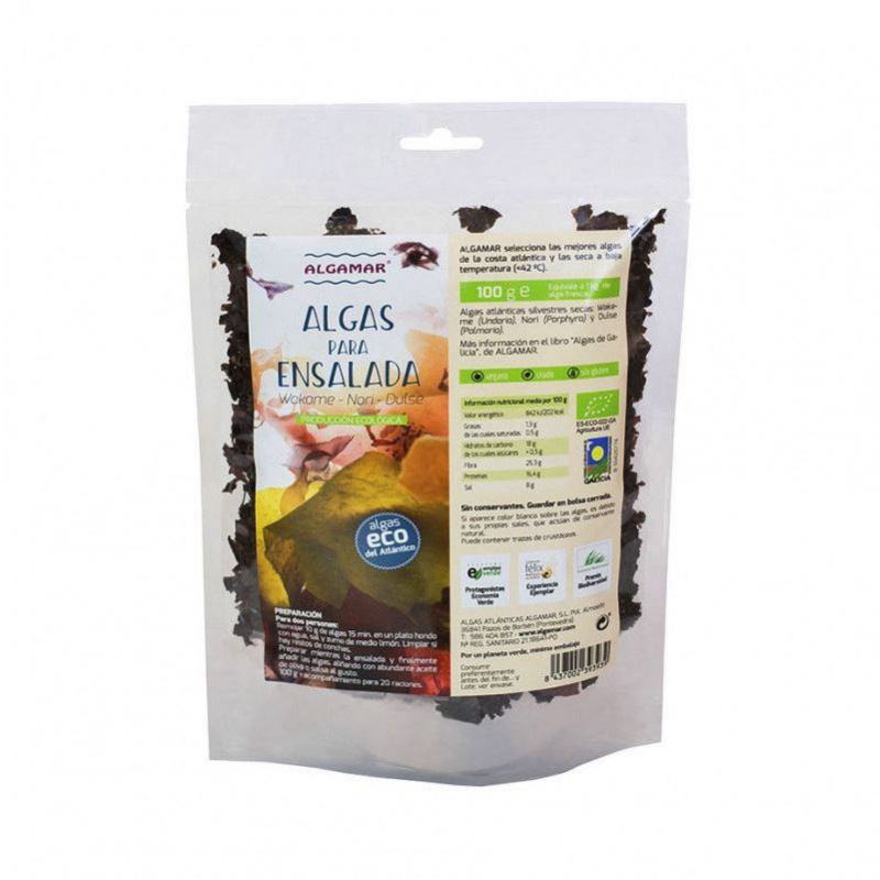 Algas para ensalada Bio, Algamar 100gr
