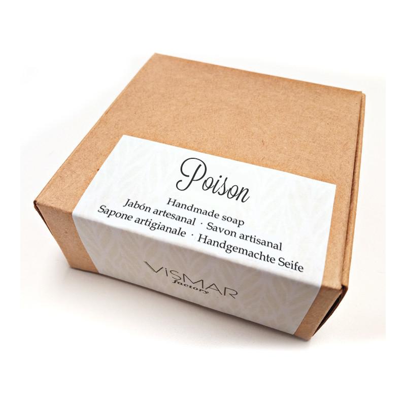 Jabón artesanal Poison con fragancia a perfume